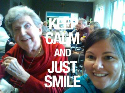 keep calm and just smile